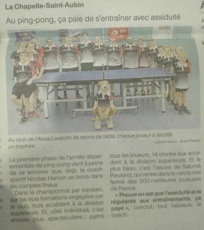 Article Ouest France !